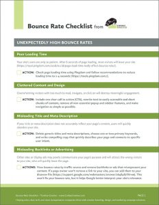 Corbae bounce rate checklist image